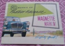 MG Magnette Mark IV Broschüre Katalog Prospekt brochure englisch english