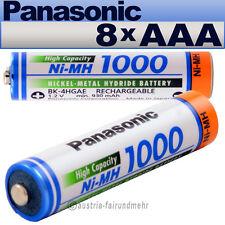 """""""8x Panasonic AKKU MICRO AAA 1000mAh HR03 BK-4HGAE"""