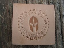 Molon Labe Leather Tooling Embossing / Clicker Stamp, Delrin, NEW #108
