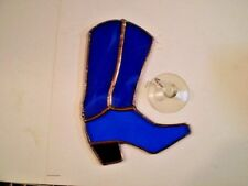 STAINED GLASS COWBOY BOOT SUNCATCH, #1