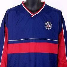 United States Soccer Federation Mens Windbreaker Jacket USA Pullover Size Large