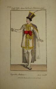 GRAVURE COULEUR PORTRAIT COSTUME THEATRE HOMME ROUMANIE TRANSYLVANIE COMEDIE1820