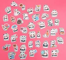 42x Kawaii Die-cut Great Panda Stickers Cute Flake Sticker Sack Planner Craft