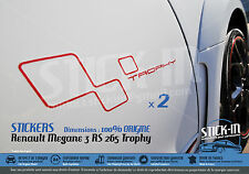 Renault Megane 3 RS TROPHY 265 Stickers Autocollants Portes Doors Decals