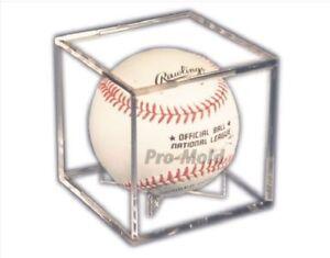 Pro-Mold Ball Cube III Autograph and Souvenir Baseball Display Case USA Made