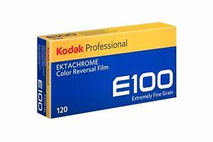5 x Kodak Ektachrome E100 Color Reversal Camera Film (120 Roll Film, 5-Pack)