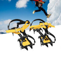 10 teeth Crampons Strap Binding Type Ice Grips Slip Resistant Cleats For Hiking