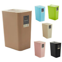 1X(12L Bathroom Trash Can Toilet Kitchen Waste Bin Dustbin Garbage Bin Pres G6Q5