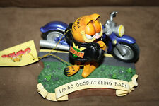 Extremely Rare! Garfield with his Motorcycle Figurine Statue