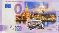 BILLET 0  EURO THAILAND TOUK TOUK  ANNIVERSARY COULEUR  2021 NUMERO DIVERS
