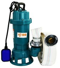 IBO FURY1.5kW Submersible Sewage Dirty Water Septic Sump Pump +grinder +30m hose