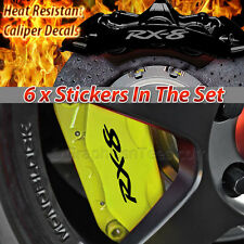 RX8 Brake Caliper Decal Sticker, Car Vinyl Graphic Sticker Decal