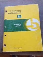 John Deere 32, 36, 48 and 52 Inch Commercial Walk-Behind Mower Technical Manual