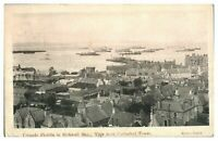 Antique military WW1 printed postcard Torpedo Flotilla in Kirkwall Bay