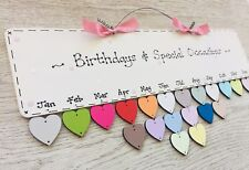 PERSONALISED Family Friend Birthday Calendar Reminder Special Date Board Plaque