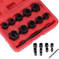 11pc Locking Wheel Nut Remover Bolt Stud Extractor Impact Spiral Socket