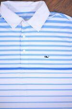Vineyard Vines Performance Polo Shirt Blue Stripe Men's Medium M