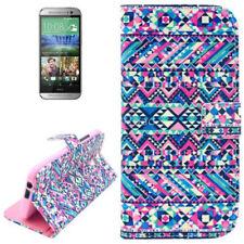 Book Tasche für HTC One 2 (M8) Ethnie Style bunt mit Aufstellfunktion Case Etui