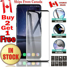 For Samsung Galaxy S8 S9 / Plus 3D Case Friendly Tempered Glass Screen Protector