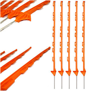4ft Plastic Fence Posts Event Horse Paddock Poles Stake Safety Mesh - 5 Colours