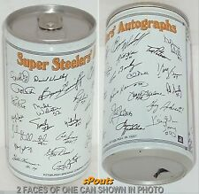 84 PITTSBURGH SUPER STEELERS AUTOGRAPHS IRON CITY BEER CAN NFL FOOTBALL PA SPORT