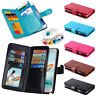 New Luxury Fashion Wallet Frame Leather Flip Phone Cover With 9 Card Slots Case