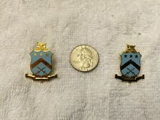 Set of 2 Pi Kappa Phi Lapel Pins Gold Plated Butterfly Clutch Back RARE!!!