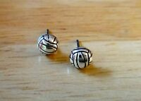 Sterling Silver TINY 6mm Volleyball Ball Stud Studs Posts Earrings