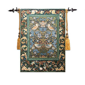 William Morris, The Strawberry Thief Medieval castle portable Tapestry carpet