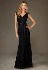 Mermaid Black Bridesmaid Dress