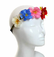 Colourful Camellia Flower Garland Hairband Christening Elastic Floral Headband