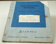 LAMBDA MODEL: LM REGULATED POWER SUPPLIES INSTRUCTION MANUAL  (W-4-BOX 9-45-RCT)