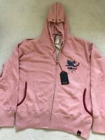 "Paul Smith RED EAR Indigo ""Cry of the Chameleon"" Pink Hoody   - L -  p2p 22"""