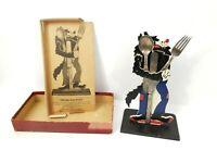 Vintage Disney Big Bad Wolf 3 Three Little Pigs Fork Spoon Flatware & Box Rare
