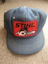 Vintage STIHL K-Products K-Brand Denim Blue Trucker Hat Cap Snapback