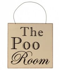 The Poo Room Bathroom Funny Wooden Novelty Plaque Sign Gift