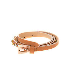 RRP €150 HOTEL PARTICULIER Leather Skinny Belt Size 75 / 30 Pin Buckle