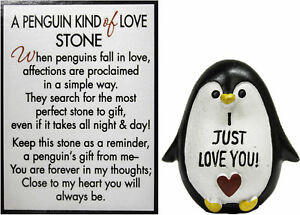 Ganz A Penguin Kind of Love Stone with Story Card