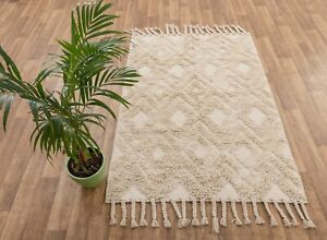 Moroccan Inspired Bohemian Handwoven Washable Cotton Rug, Boho Chic MD-33