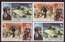 Nouvelle-Zélande 2003 Conquest de Everest Bloc de 4 non Montés Excellent État