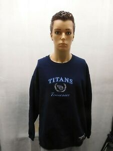 Vintage Tennessee Titans Tultex Crewneck Sweater L NFL Embroidered Mike Utley