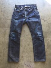 Levi's LVC Big E Selvedge 505-0217 Denim Jeans 33 x 34 Worn In Red Line