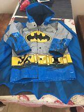 Western Chief Kids Rain Coat With Cape Batman Size 4/5 GUC