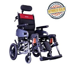 Karman VIP2 Adult Tilt in Space & Reclining Wheelchair Transport 16 Inch Seat