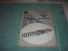 1966 Original Ih McCormick 340 Spring-Tooth Harrows Operators Manual