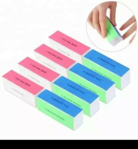 4 side Nail Tools Polishing Blocks Four Sides Nail Buffer and Files Beauty UK