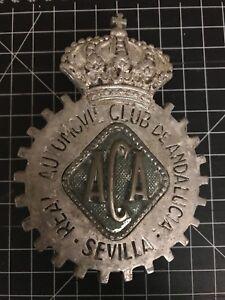 Real Automovil Club de Andalucia Sevilla Car Badge