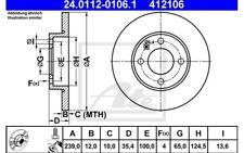 ATE Juego de 2 discos freno Antes 239mm para SEAT PEUGEOT 308 24.0112-0106.1