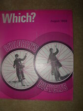 VINTAGE WHICH MAGAZINE AUGUST 1968 CHILDRENS BICYCLES - OWN BRAND GROCERIES