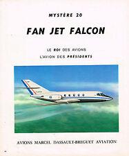 PUBLICITE ADVERTISING 064  1976  AVIONS MARCEL DASSAULT   FAN JET FALCON